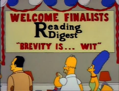 Simpsons quote about brevity